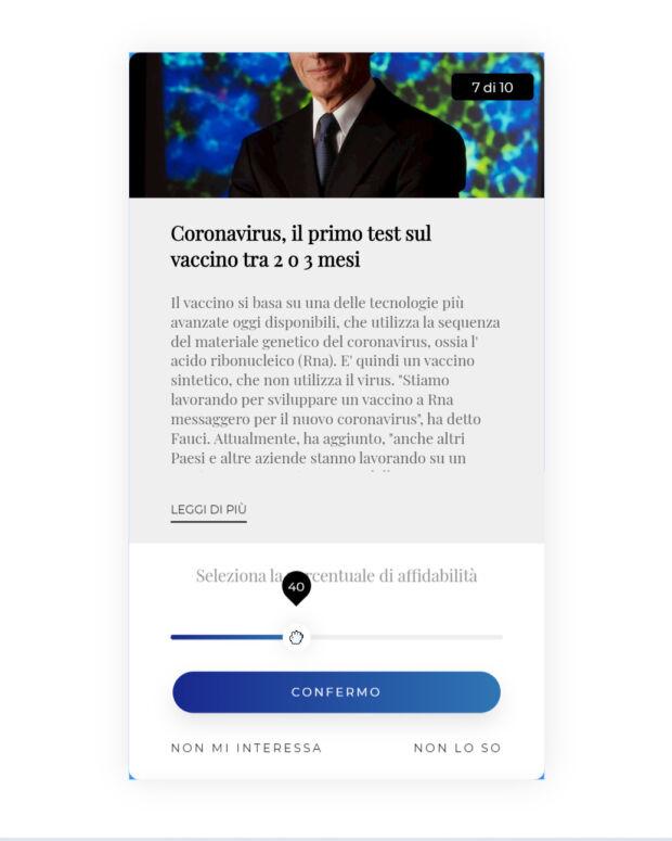 progetto cartesio affidabilità notizie