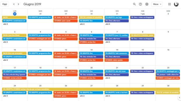 calendario editoriale vs piano editoriale