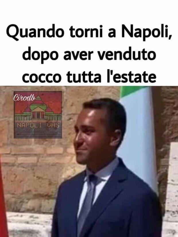 meme di maio abbronzato napoli