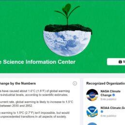facebook per combattere il cambiamento climatico