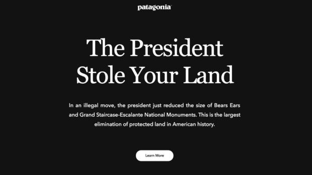 patagonia homepage bears ears