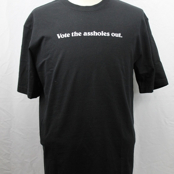 t-shit patagonia vote the assholes out