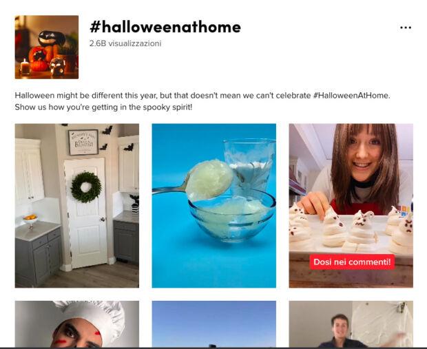 hashtag #Halloweenathome su TikTok