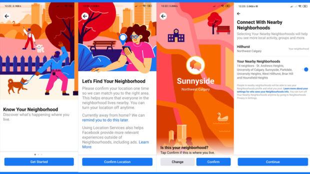 facebook neighborhood esiste