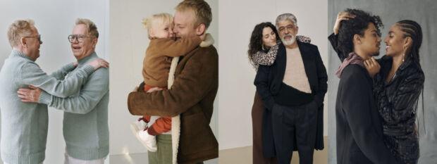 Zalando celebra gli abbracci nella sua campagna natalizia