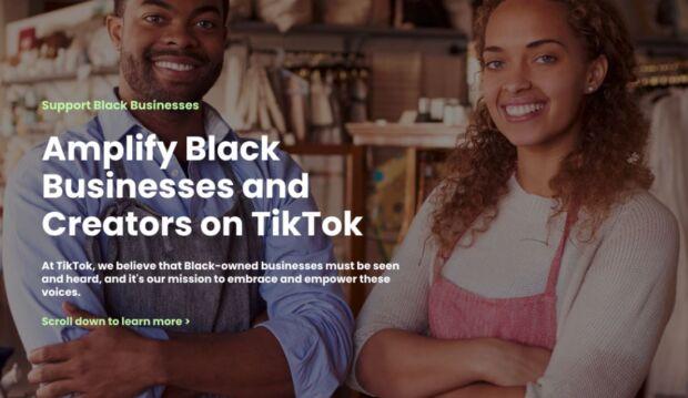 Alle iniziative per la Black community se ne aggiunge una di TikTok: Support Black Businesses