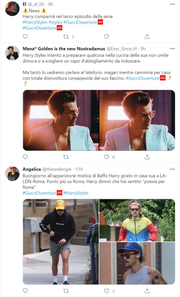 gucci ouverture comparsa harry styles
